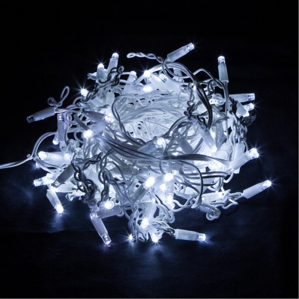 Новогодняя гирлянда eurosvet бахрома 100 101 белый