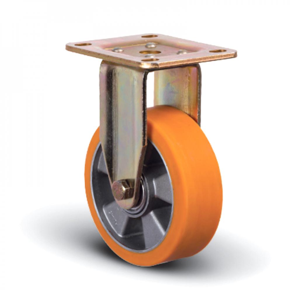 Колесо полиуретановое неповоротное 100 мм mfk-torg ed02-abp-100  - купить со скидкой
