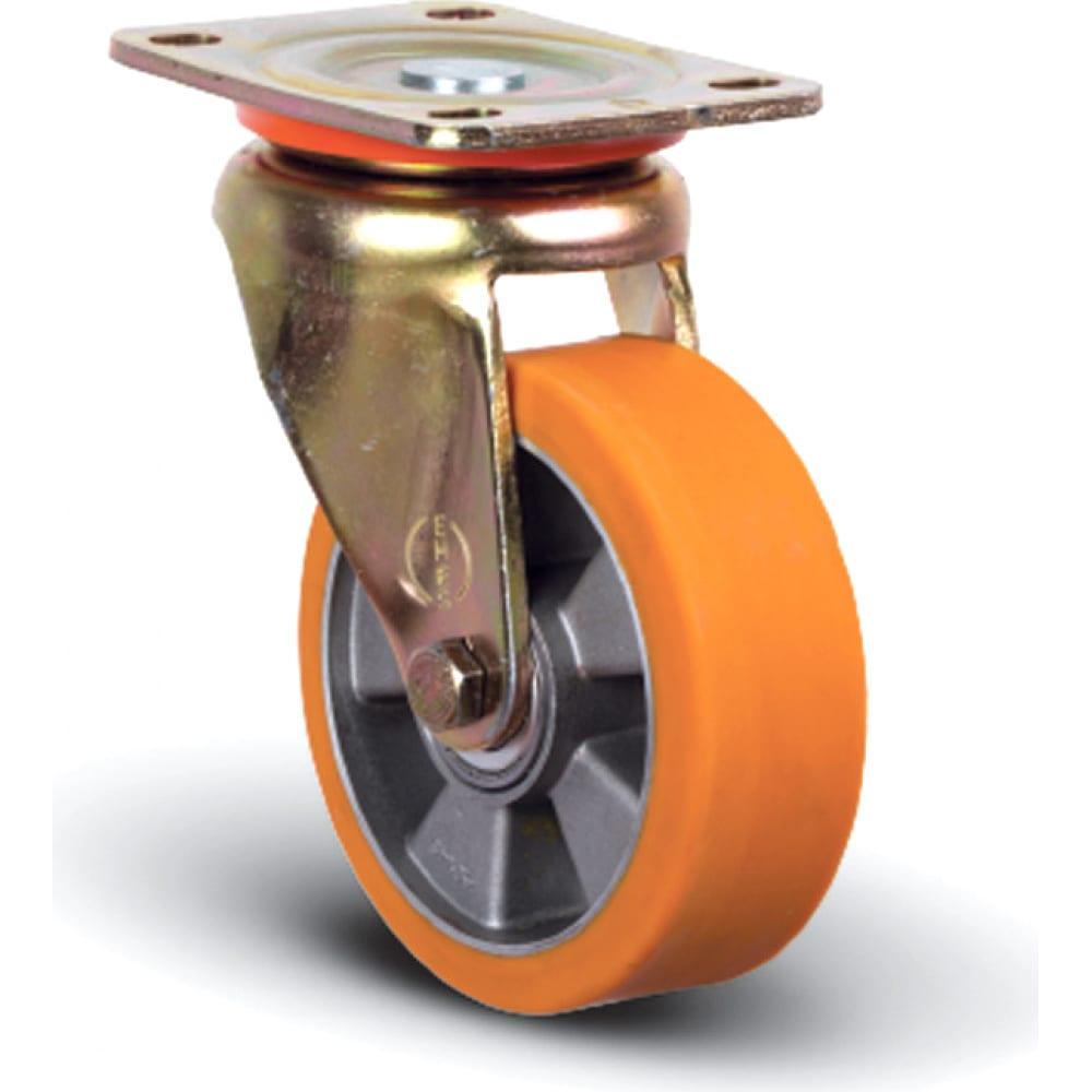 Колесо полиуретановое поворотное 100 мм mfk-torg ed01-abp-100  - купить со скидкой