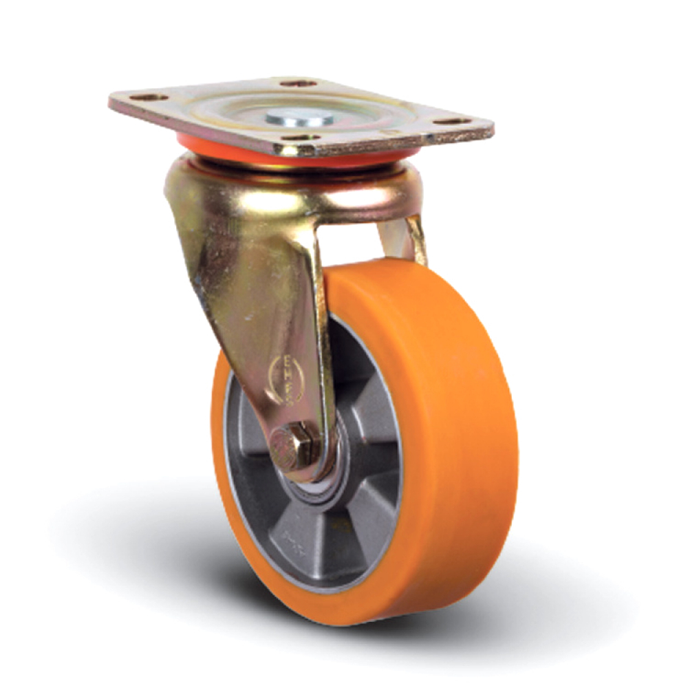 Купить Колесо полиуретановое поворотное 125 мм mfk-torg ed01-abp-125