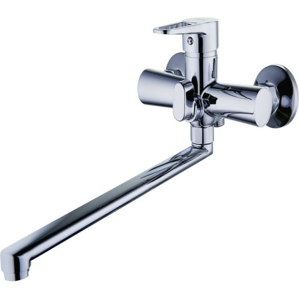 Купить Смеситель для ванны g-lauf с длинным поворотным изливом 360 градусов и душевой лейкой, хром nud7-a045