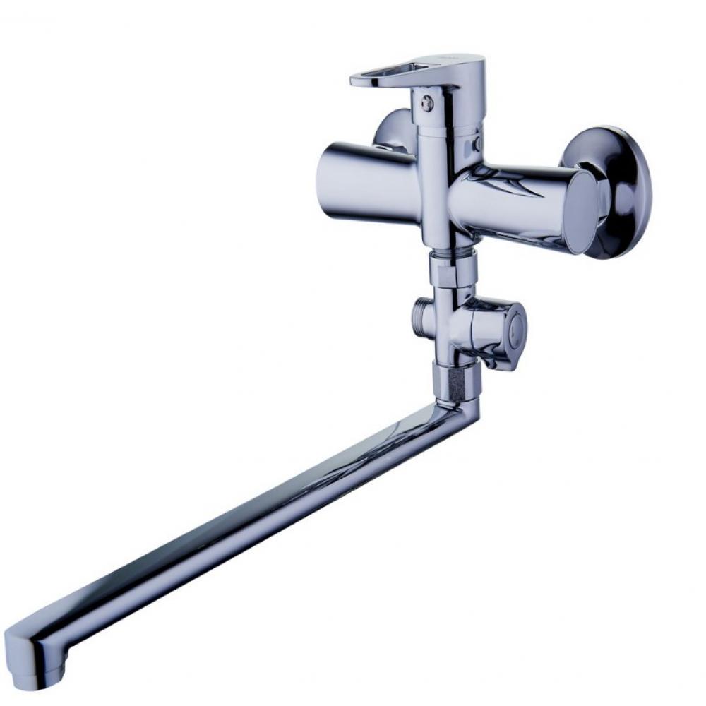 Купить Смеситель для ванны g-lauf с длинным поворотным изливом 360 градусов и душевой лейкой, хром nud6-a045