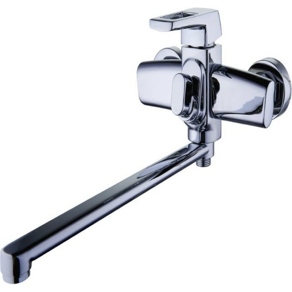 Купить Смеситель для ванны g-lauf с длинным поворотным изливом 360 градусов и душевой лейкой, хром lef7-a232