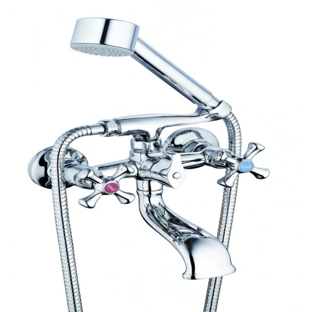 Купить Смеситель для ванны и душа g-lauf с коротким поворотным изливом и душевой лейкой, хром qsl3-a827