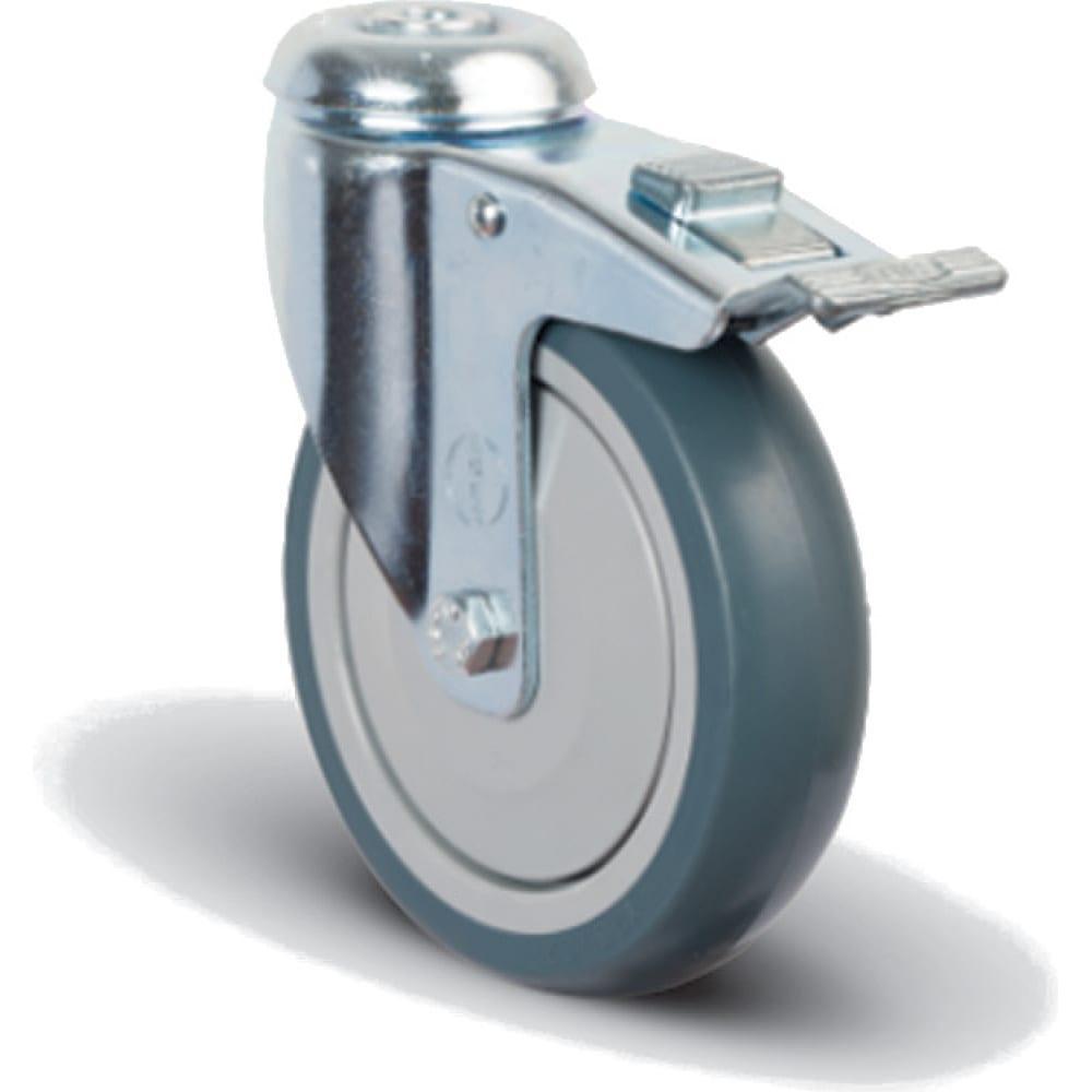 Купить Колесо аппаратное поворотное с подшипником под болт m12 с тормозом 200 мм mfk-torg er04 mbt 200 f
