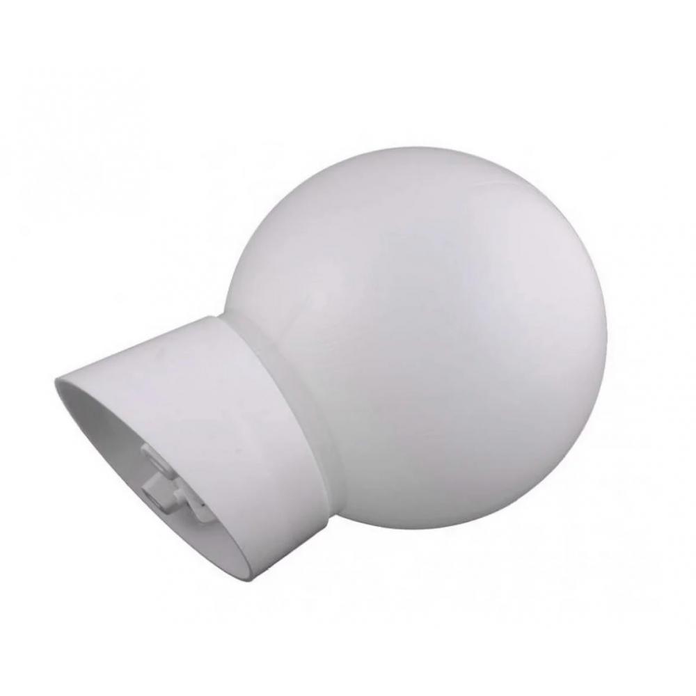 Светильник apeyron нбб-60 шар, пластик, белый, косое основание