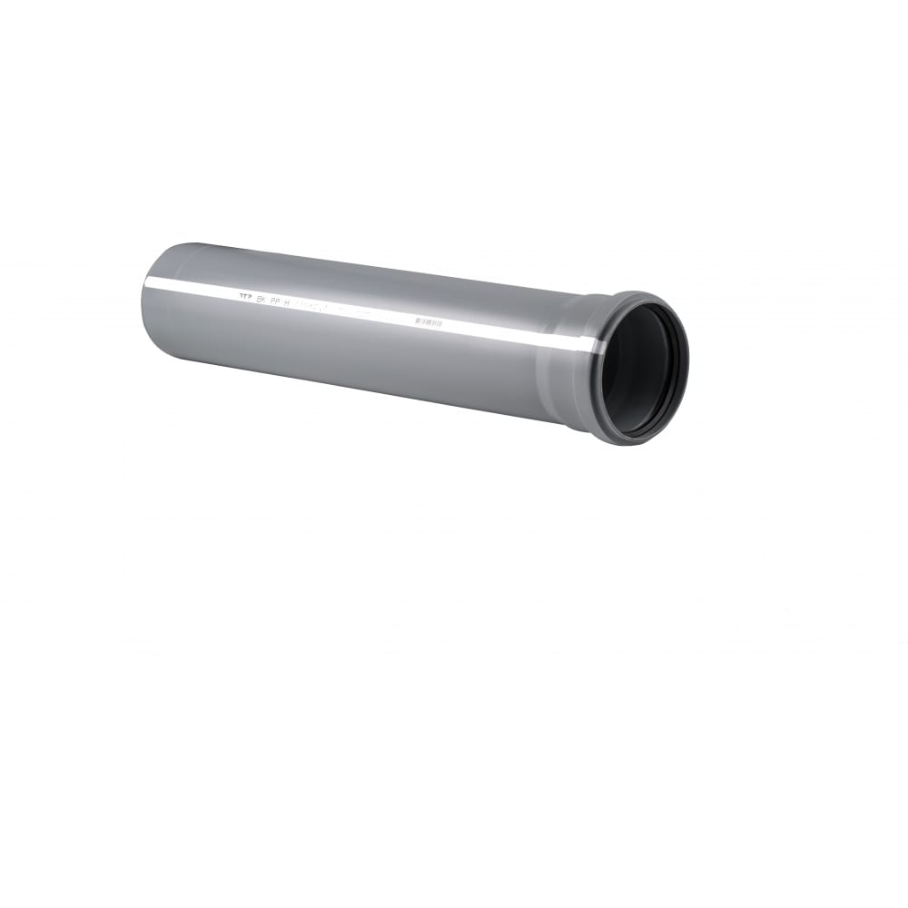 Купить Труба rtp пп, д 110 мм, толщина стенки 2, 7 мм, l 750 мм, серая 11182