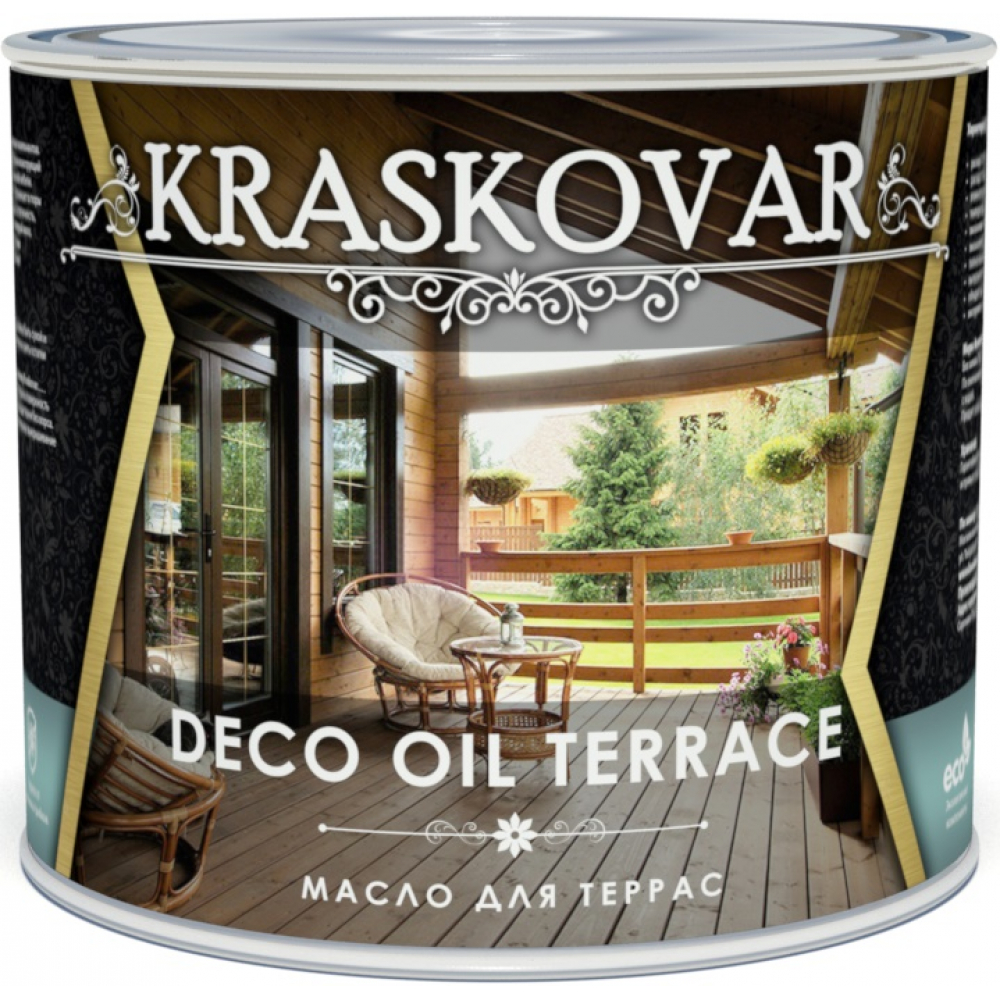 Масло для террас kraskovar deco oil terrace
