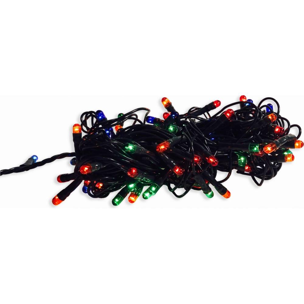 Купить Электрическая гирлянда apeyron 3.5м, 50 микро-ламп, 8 режимов, зеленый шнур, мульти цвет 15-23