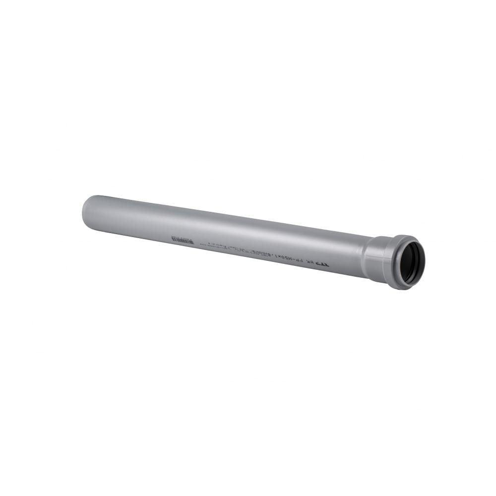 Купить Труба rtp пп, д 50 мм, толщина стенки 1, 8 мм, l 1500 мм, серая 11158
