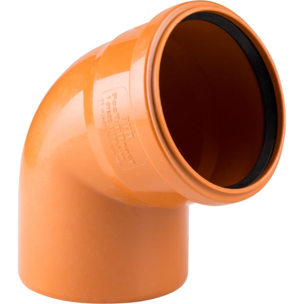 Купить Отвод наружной канализации rtp 110 мм, 67 градусов 16360