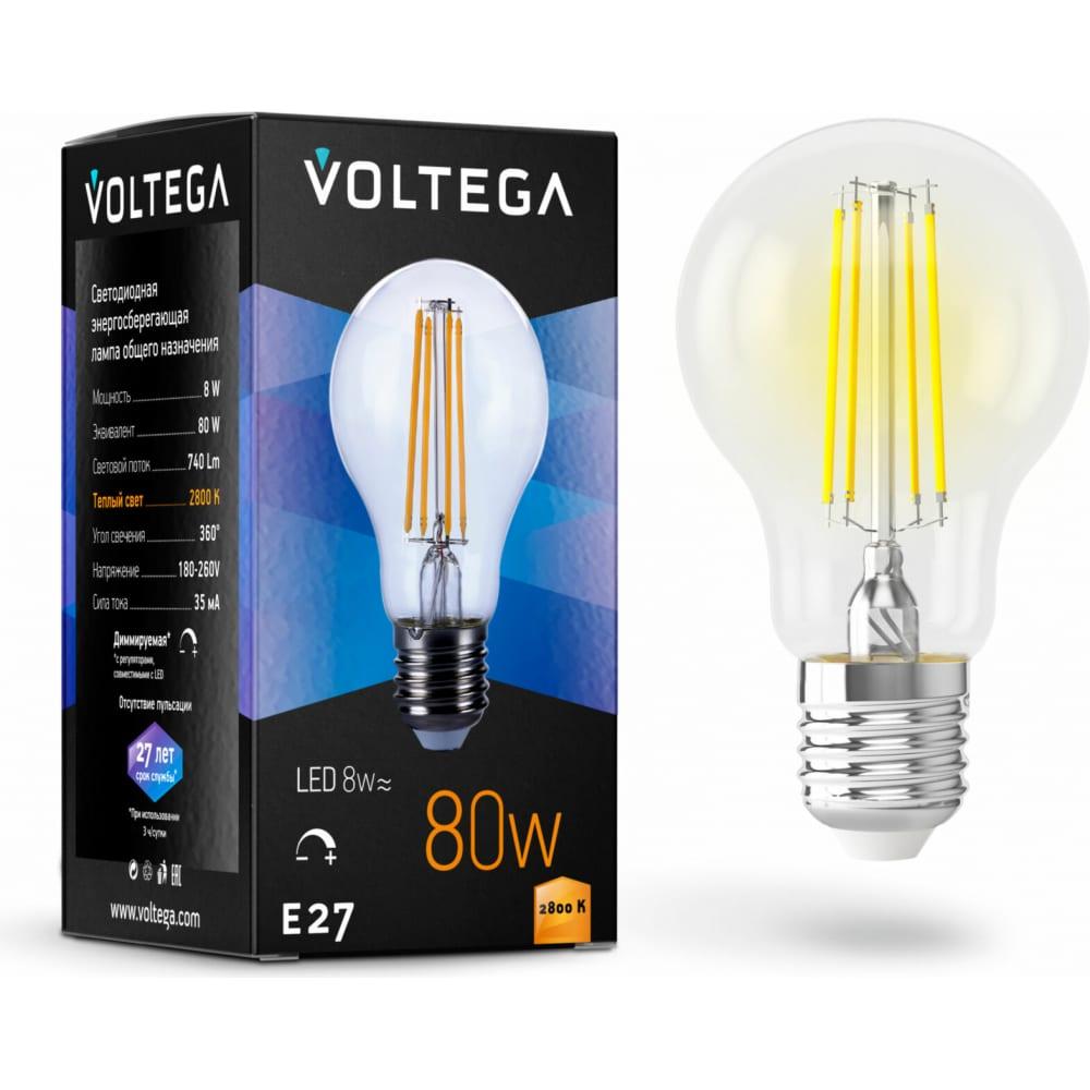 Купить Светодиодная лампа voltega лон диммируемый е27 2800к 8w 5489