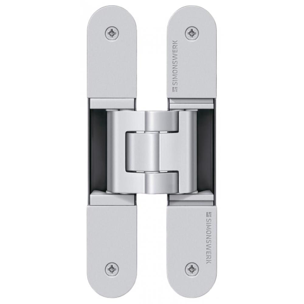 Купить Скрытая петля simonswerk tectus te 340 3d f1 полиэфирное покрытие под матовый хром, вес полотна до 80 кг 67543