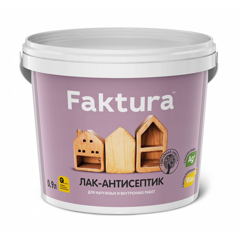 Водорастворимый лак-антисептик faktura тик 0,9л о02535