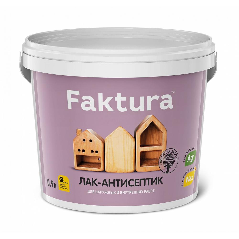 Водорастворимый лак-антисептик faktura бесцветный 0,9л о02505