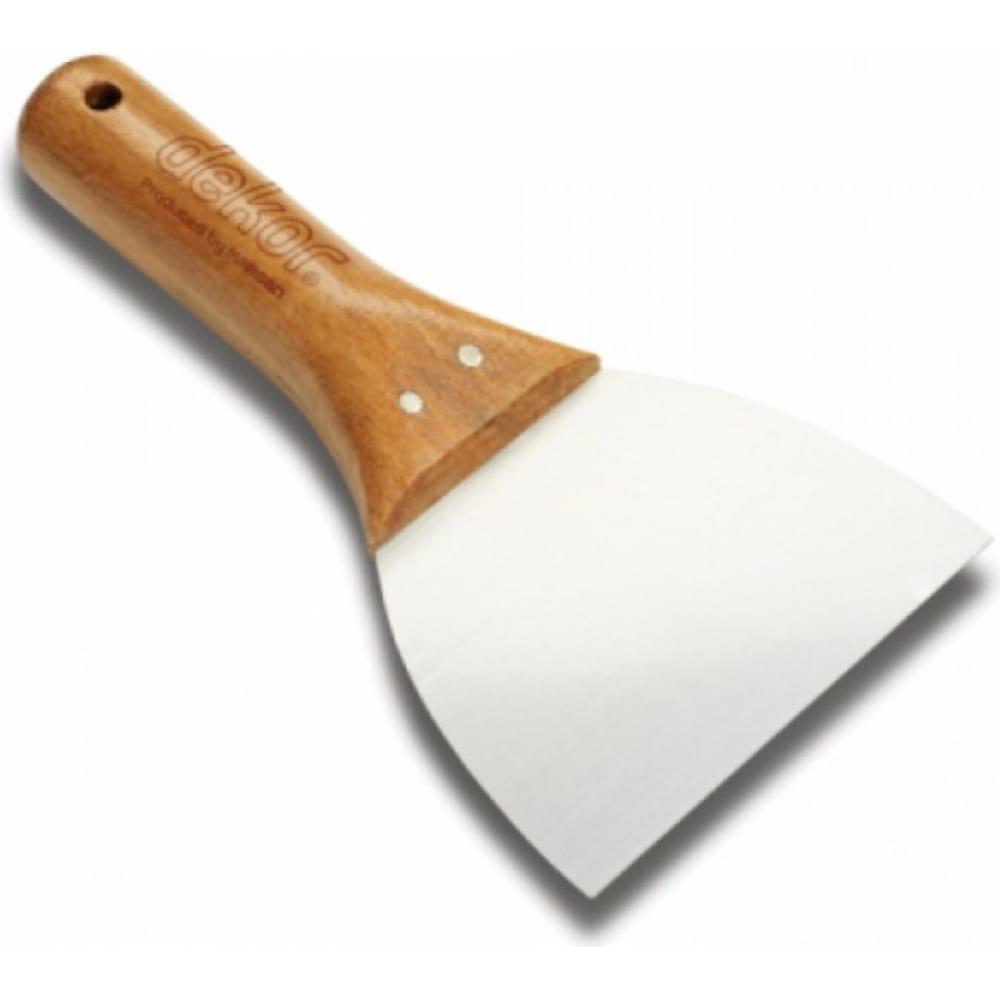 Купить Шпатель нержавеющая сталь dekor 120 мм деревянная ручка 007