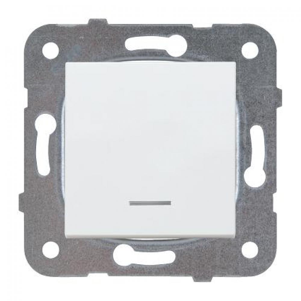 Купить Выключатель panasonic модуль 1кл с подсветкой белый karre plus 54918 wktt0002-2wh