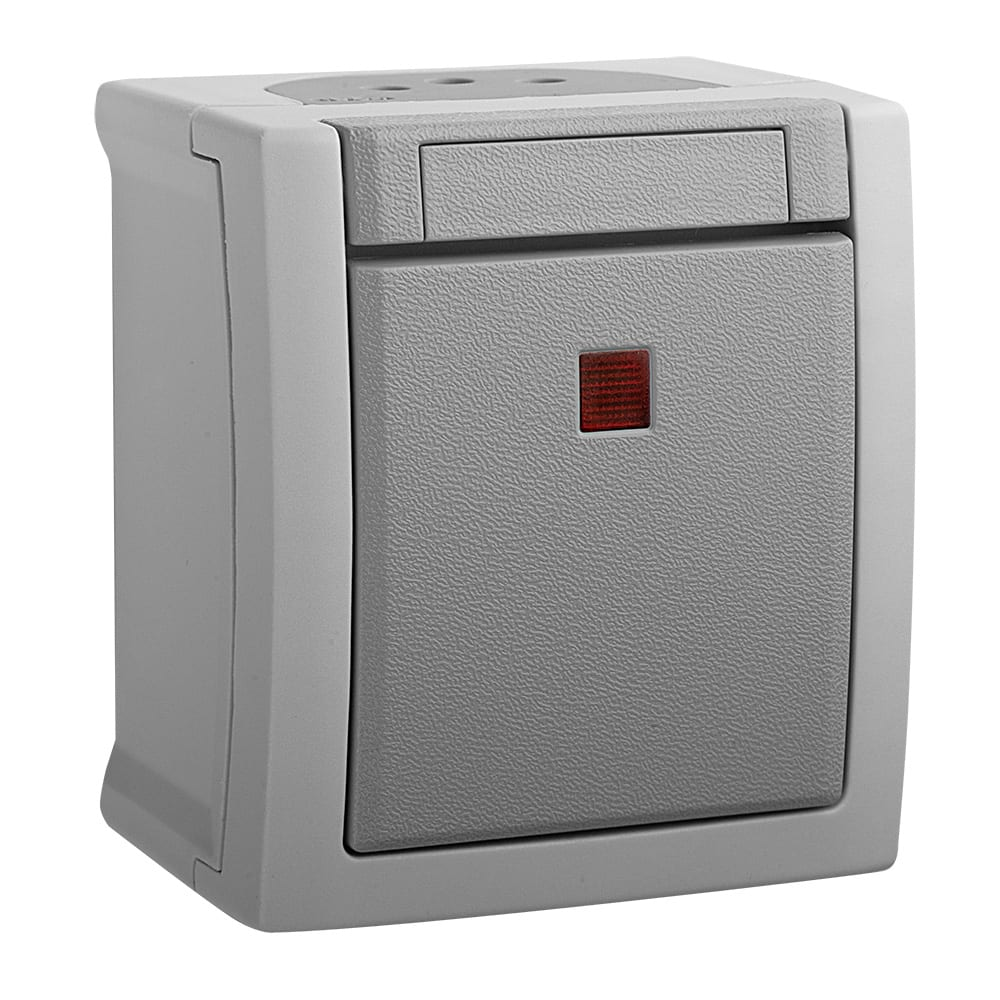 Купить Выключатель panasonic 1кл свет серый ip54 pacific 54719 wptc4002-2gr-res