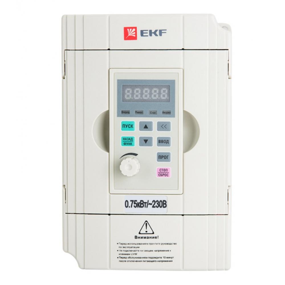 Преобразователь частоты ekf 0,75/1,5квт 1х230в vector-100 proxima sqvt100-0r7-1b