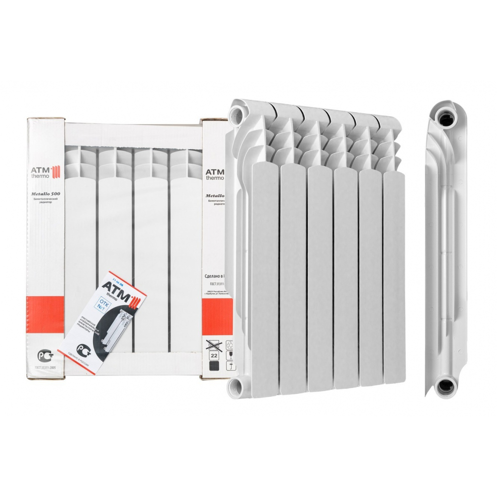 Биметаллический радиатор atm thermo 500 10 секций bim50080-10  - купить со скидкой