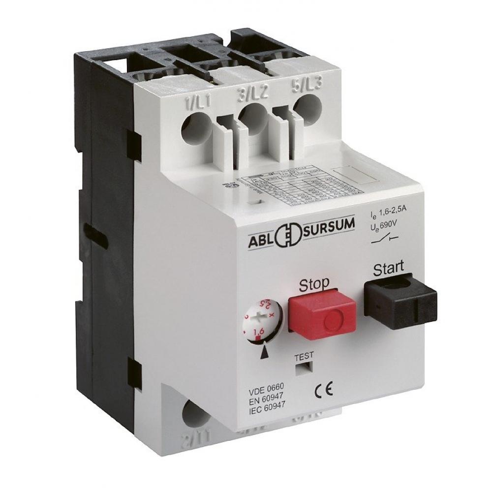 Автоматический выключатель abl с регулировкой, тепловой защитой 6.3-10 а, 10 ка ms10