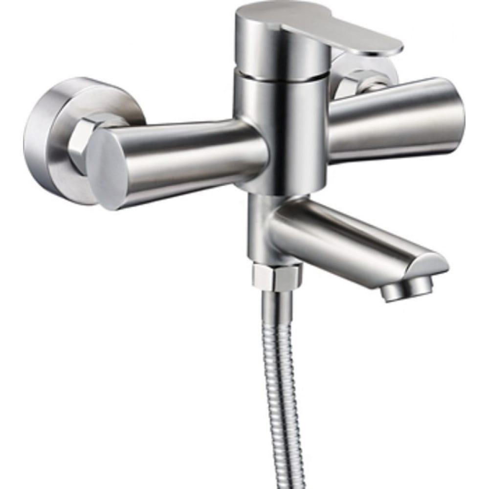 Купить Смеситель для ванны душа g-lauf solone с коротким поворотным изливом и душевой лейкой, нержавеющая сталь jat3-a094