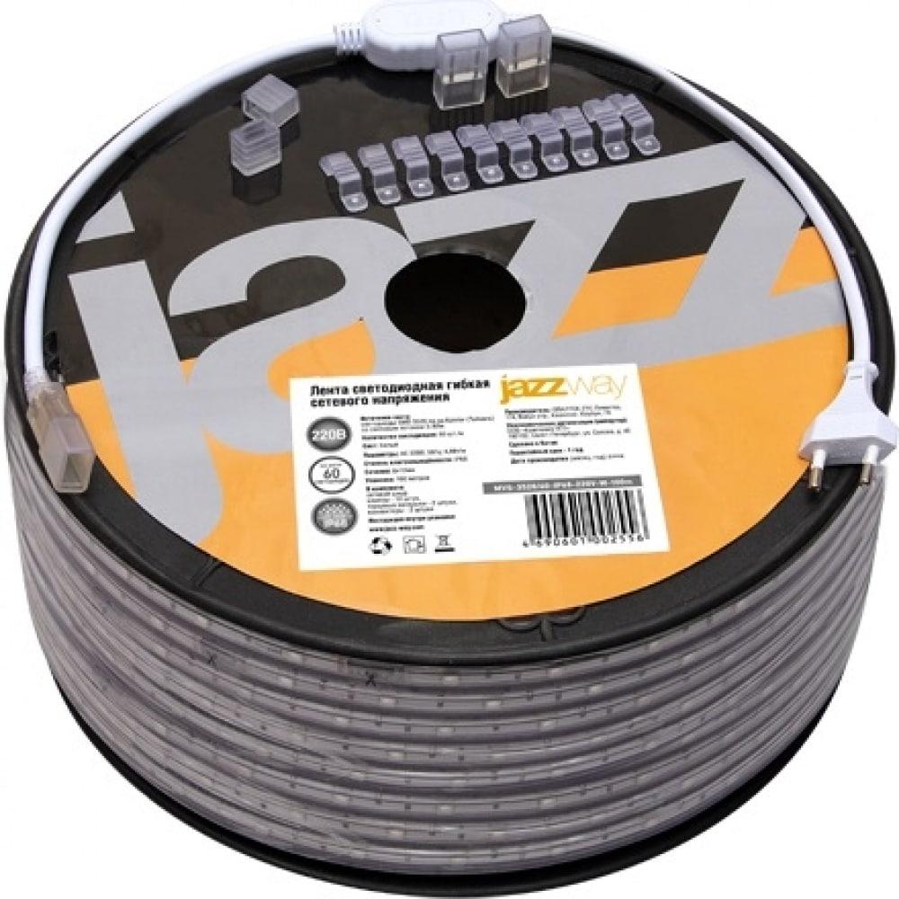Купить Светодиодная лента jazzway new mvs-2835, 60-ip68-220v- r-1m красный свет 5004290