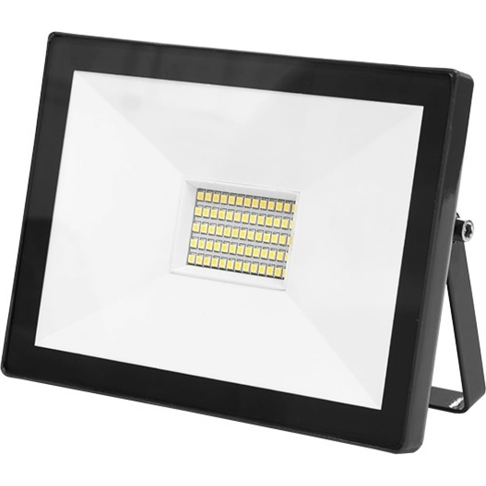 Светодиодный прожектор elf slim smd, 50вт, черный корпус, ip65, белый, elf-flsmdslim-50w-bl ack-w