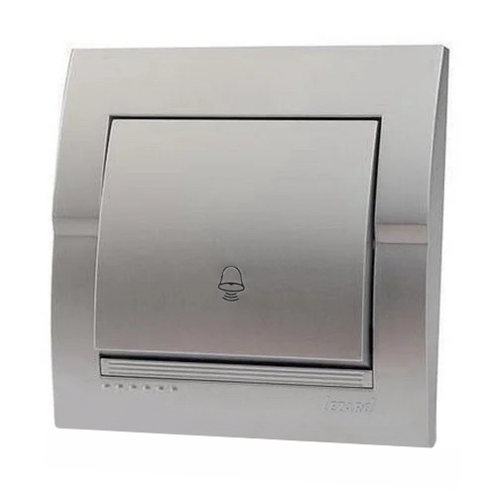 Кнопка звонка lezard deriy серебристый металлик 702-2828-103