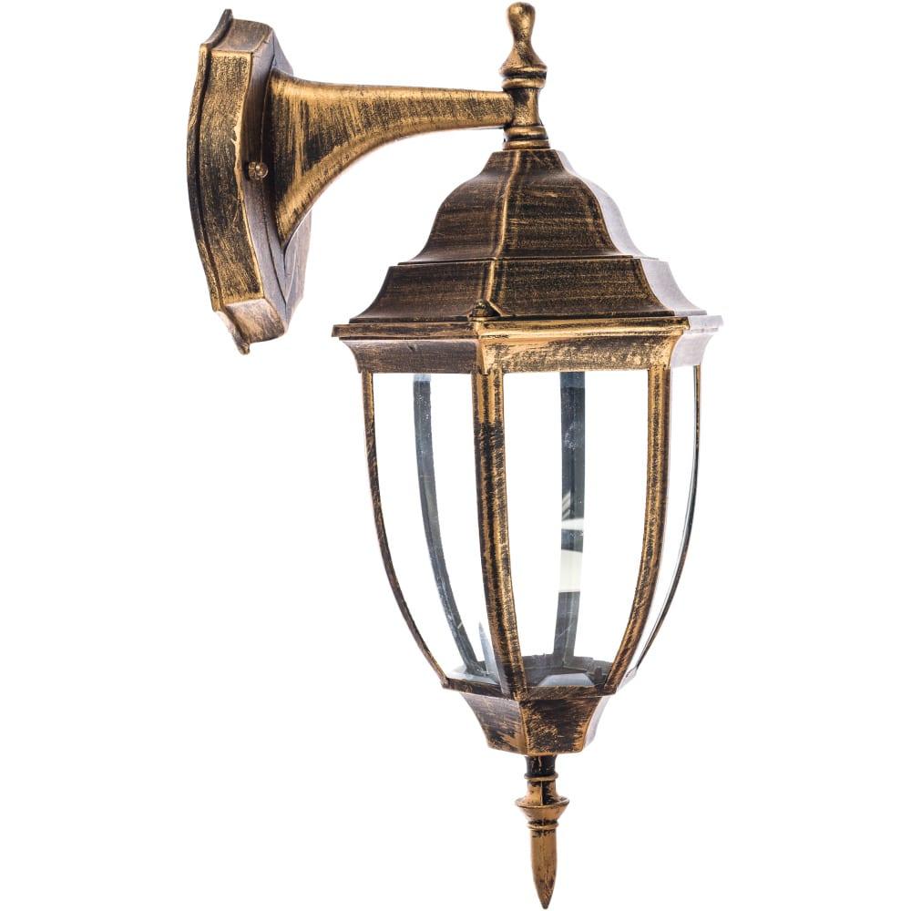Садово-парковый светильник feron 60w, 230v, e27, pl6002, черное золото 11894  - купить со скидкой