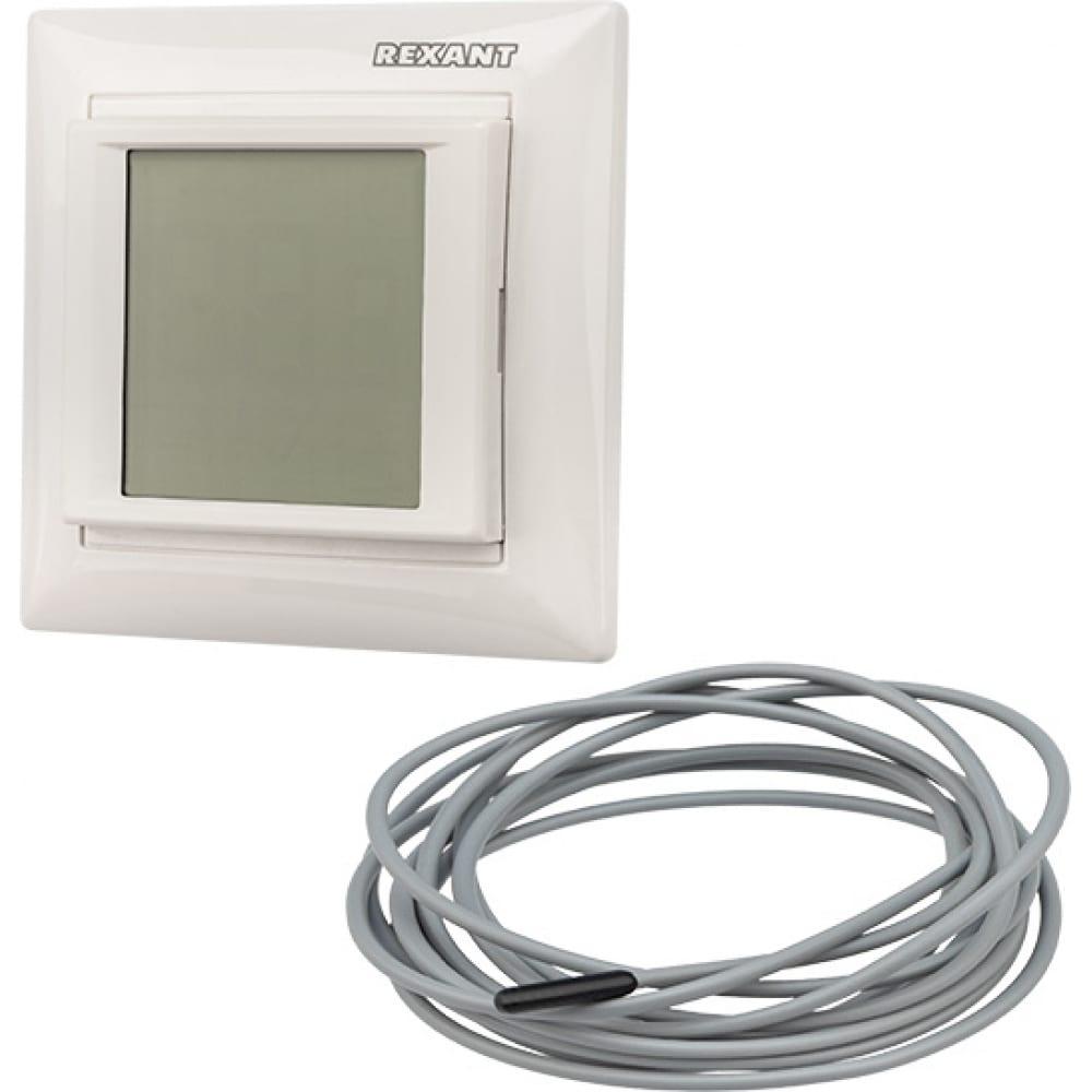 Терморегулятор сенсорный rx-421h белый rexant 51-0586