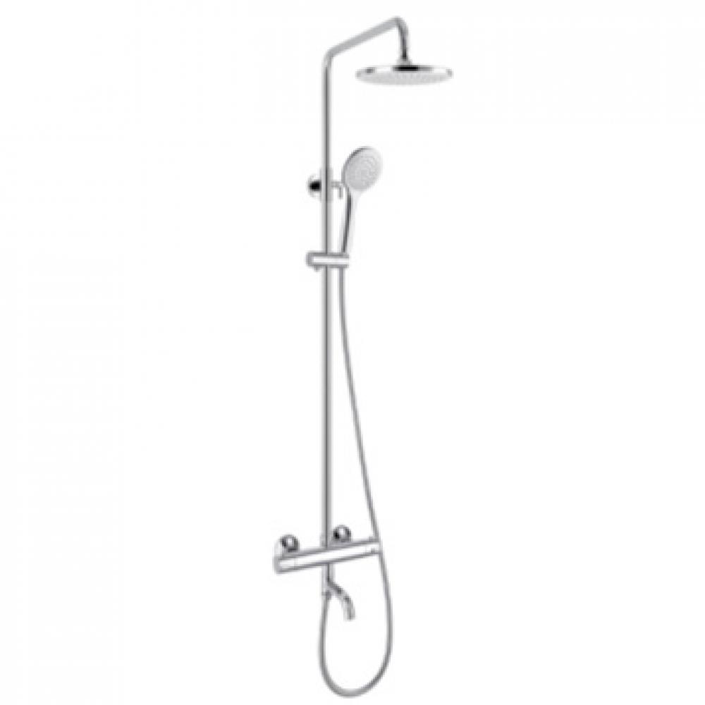 Купить Душевая система для ванны/душа smartsant смарт с термостатом, комплект термостат, смеситель, штанга sm1209aa