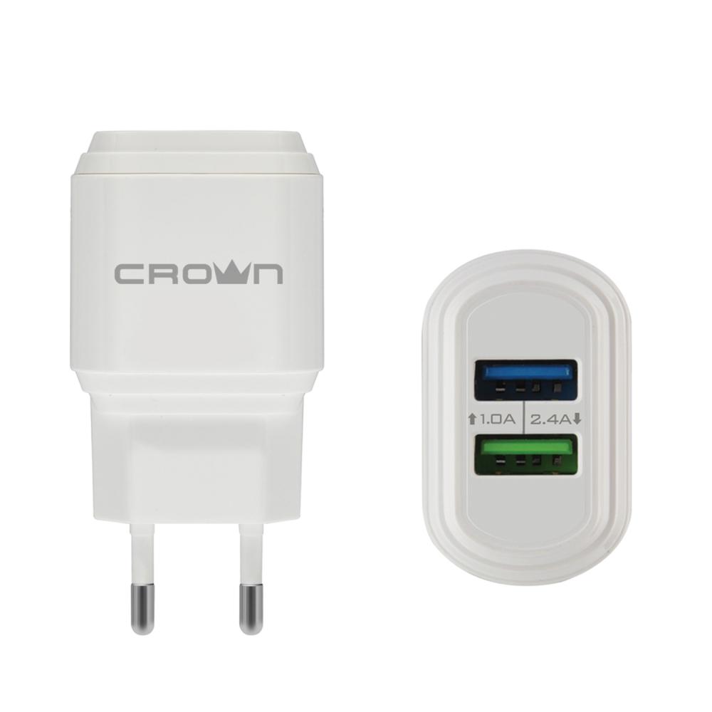 Купить Сетевое универсальное зарядное устройство crown cmwc-3032 cm000002083