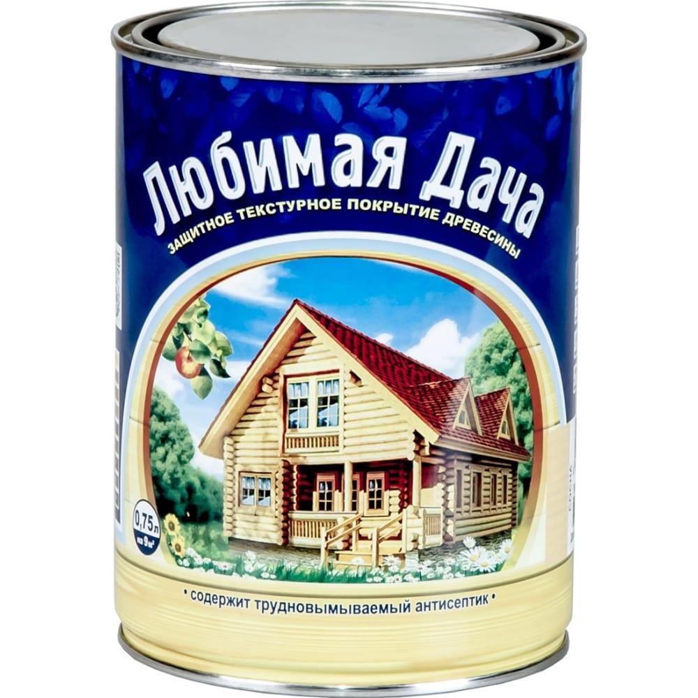 Защитно-декоративное покрытие рогнеда любимая дача, орех, для древесины, 0,75 л. 6 35266