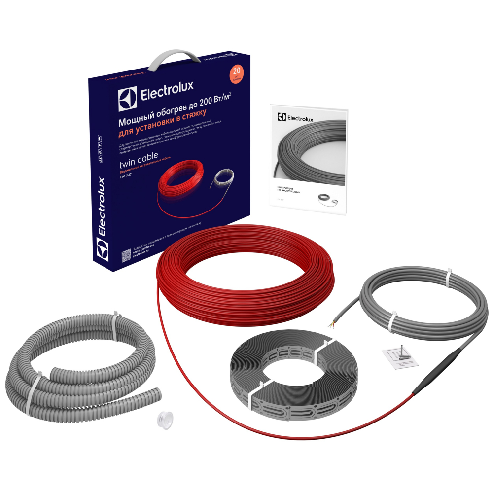 Купить Кабель electrolux etc 2-17-1200 комплект теплого пола нс-1073703