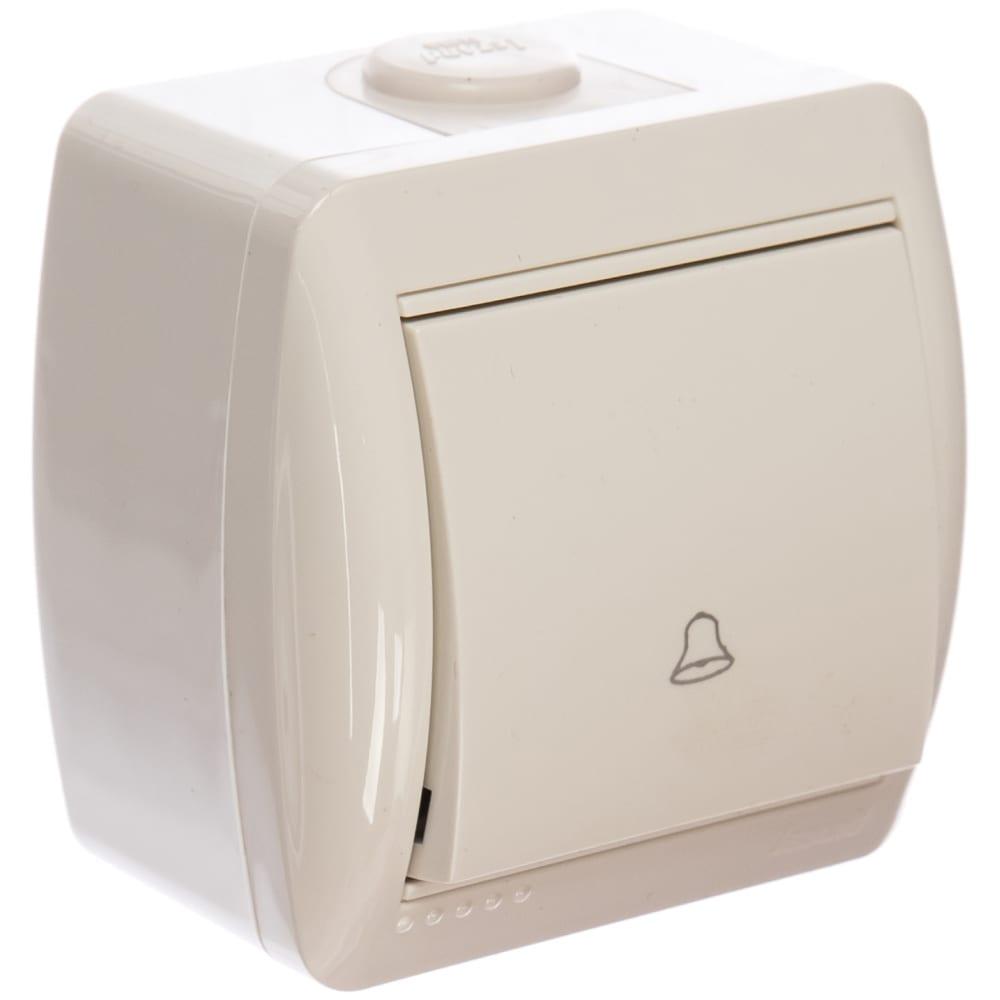 Кнопка звонка lezard, nata, белый, 710-0200-103