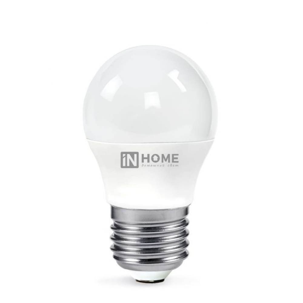 Светодиодная лампа in home led-шар-vc 11вт 230в е27 4000к 820лм 4690612020617
