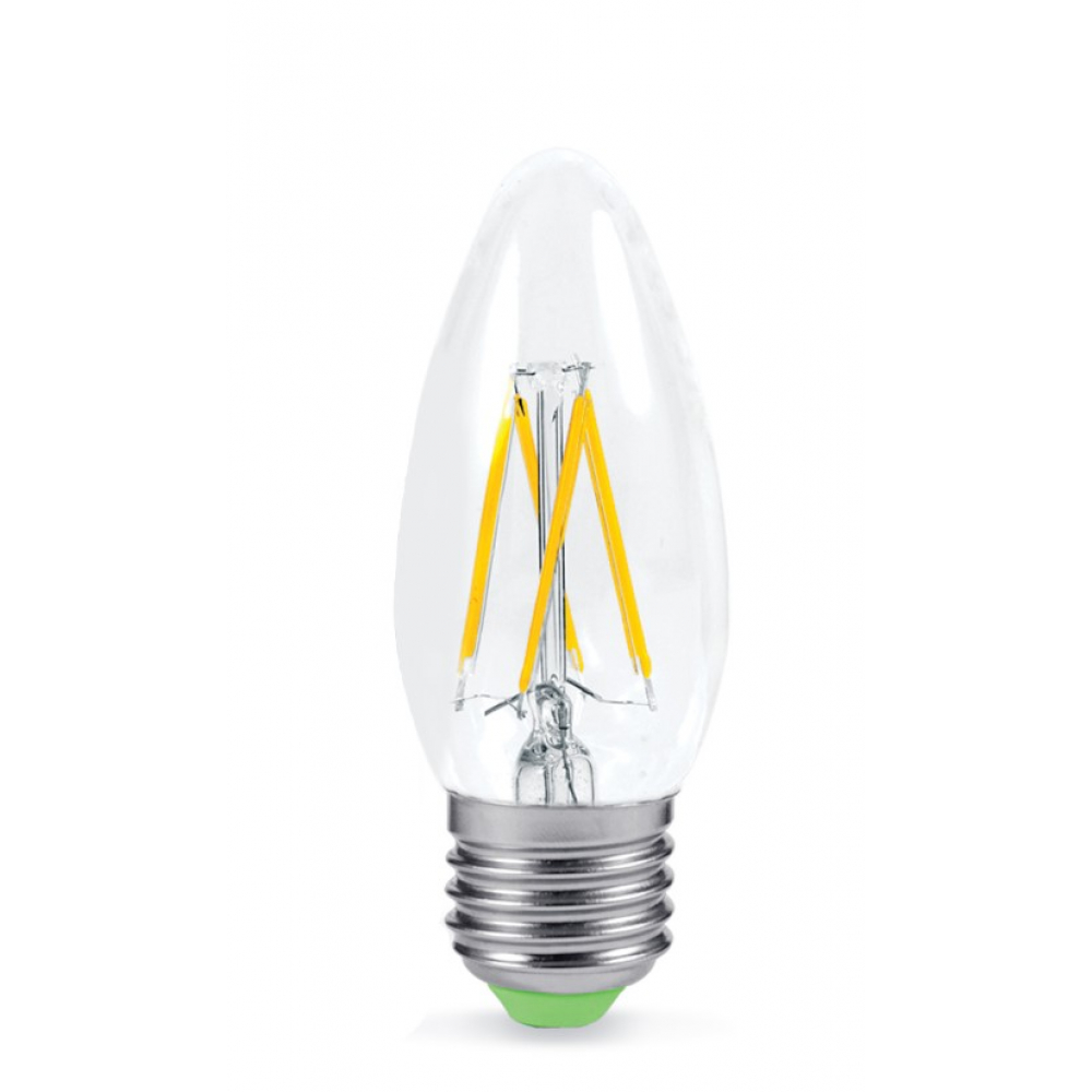 Купить Светодиодная лампа in home led-свеча-deco 7вт 230в е27 3000к 630лм прозрачная 4690612016382