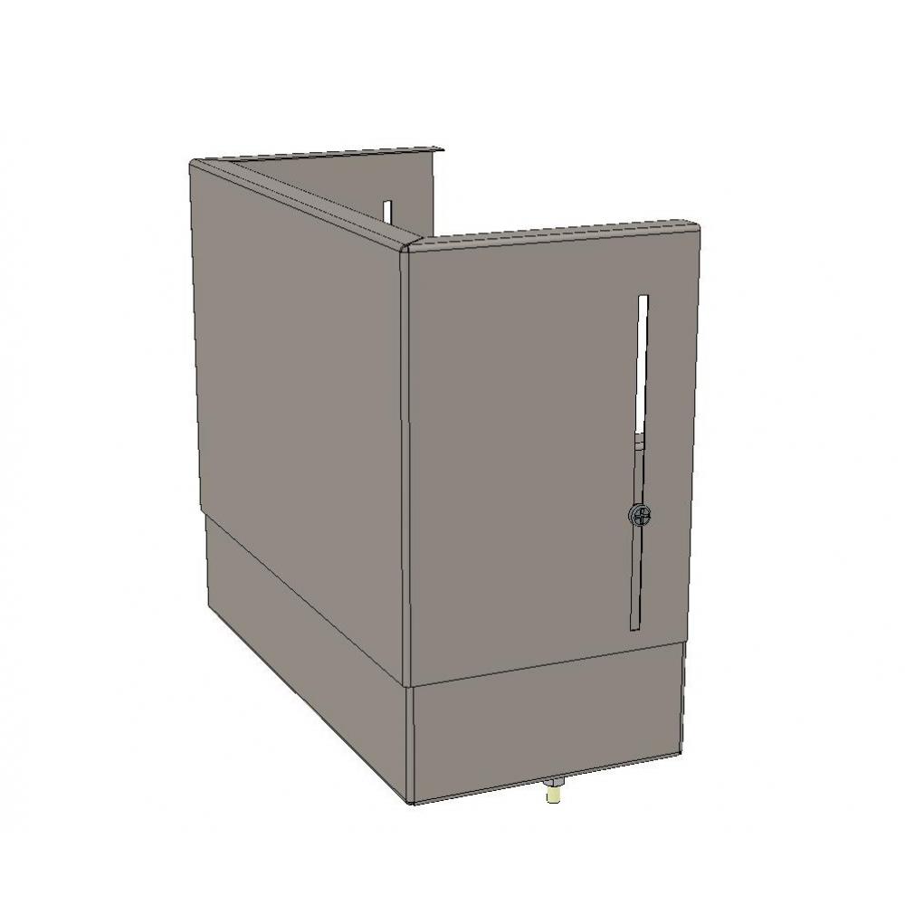Верхний цоколь ekf с компенсатором 110х300х150 basic squerm-slide-110