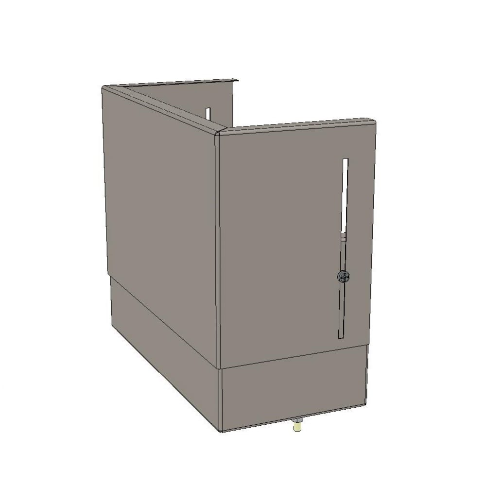 Верхний цоколь ekf с компенсатором 560х300х150 basic squerm-slide-560