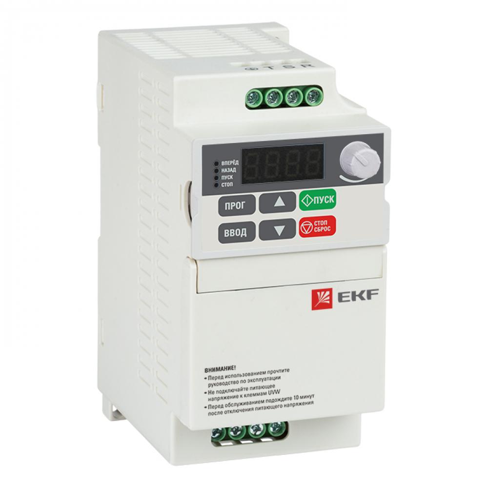 Преобразователь частоты ekf 0,75/1,5квт 3х400в vector-75 compact basic sqvt75c-0r7-3b