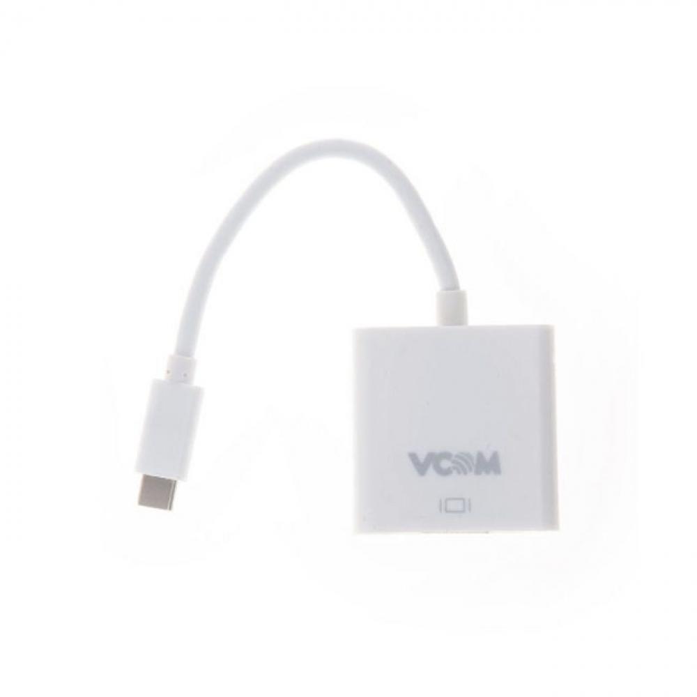 Кабель-адаптер vcom usb 3.1 type-c m - hdmi a/f/, 10gbps, 0, 15m cu423
