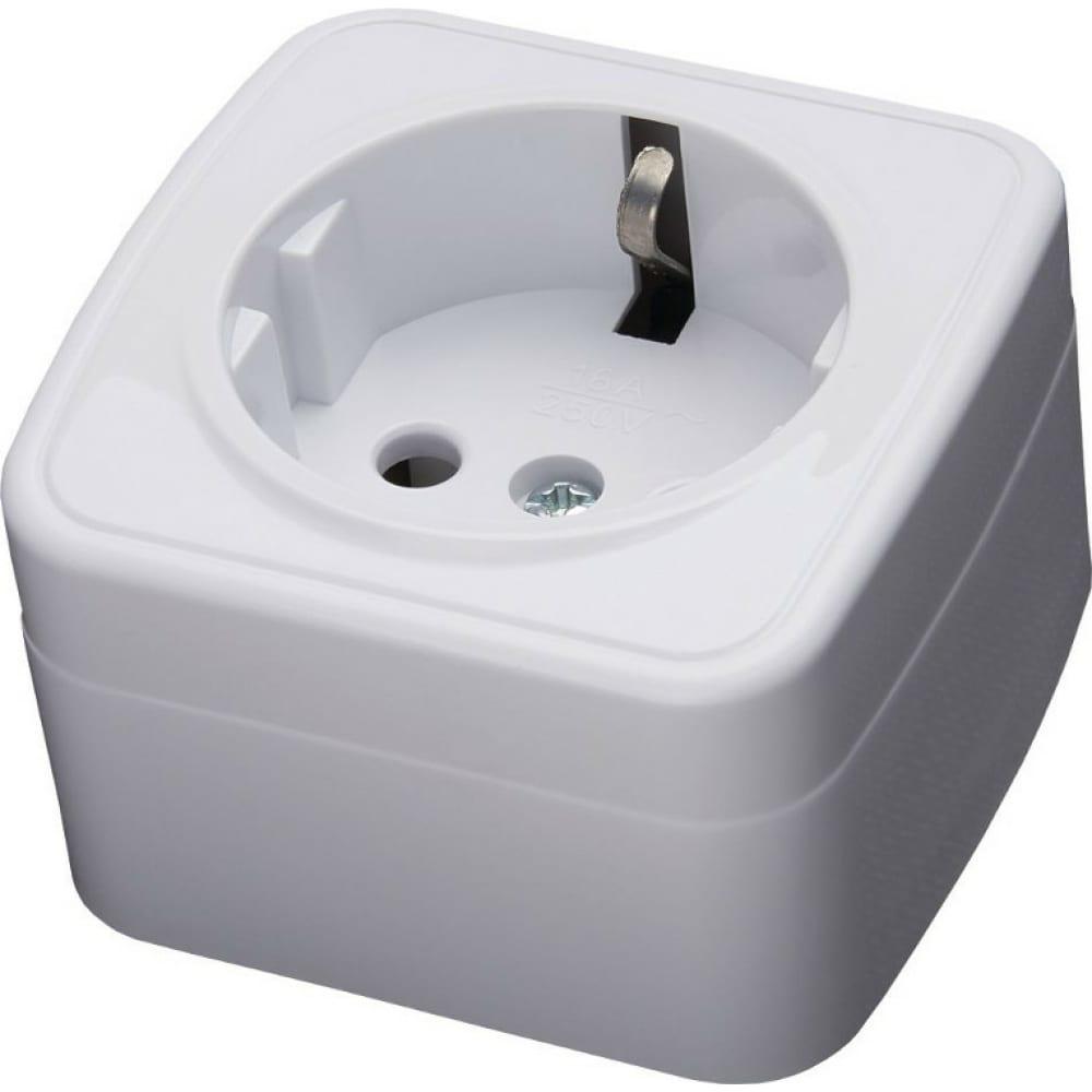 Купить Накладная розетка stekker с заземляющим контактом авs 250в 16а ip20 серия basic pst16-501-20 39033
