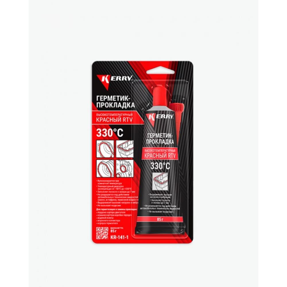 Купить Высокотемпературный герметик-прокладка kerry красный, 85 мл 11604680