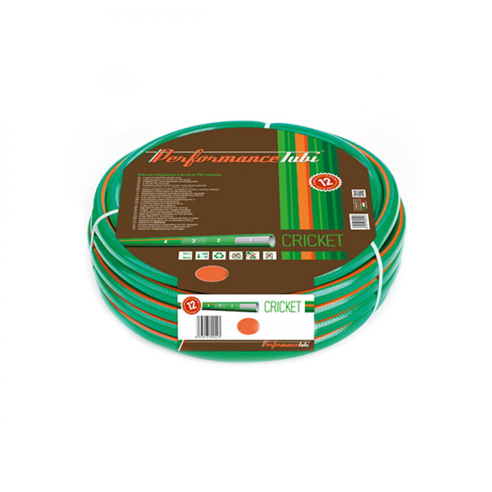 """Армированный 4-х слойный садовый шланг для полива almaplast cricket 1"""", 25м 00400250250"""