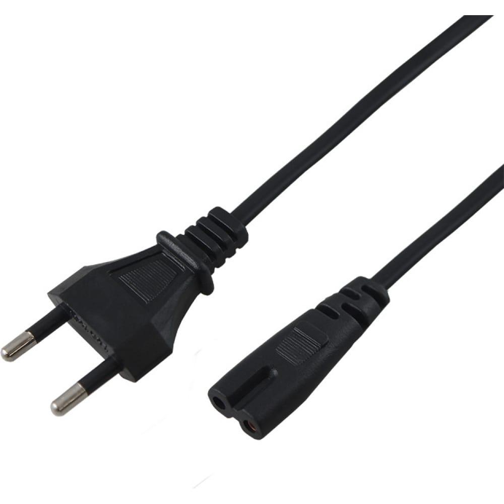 Купить Сетевой шнур rexant вилка - евроразъем c7, кабель 2x0, 5 мм?, длина 5 метров 11-1106