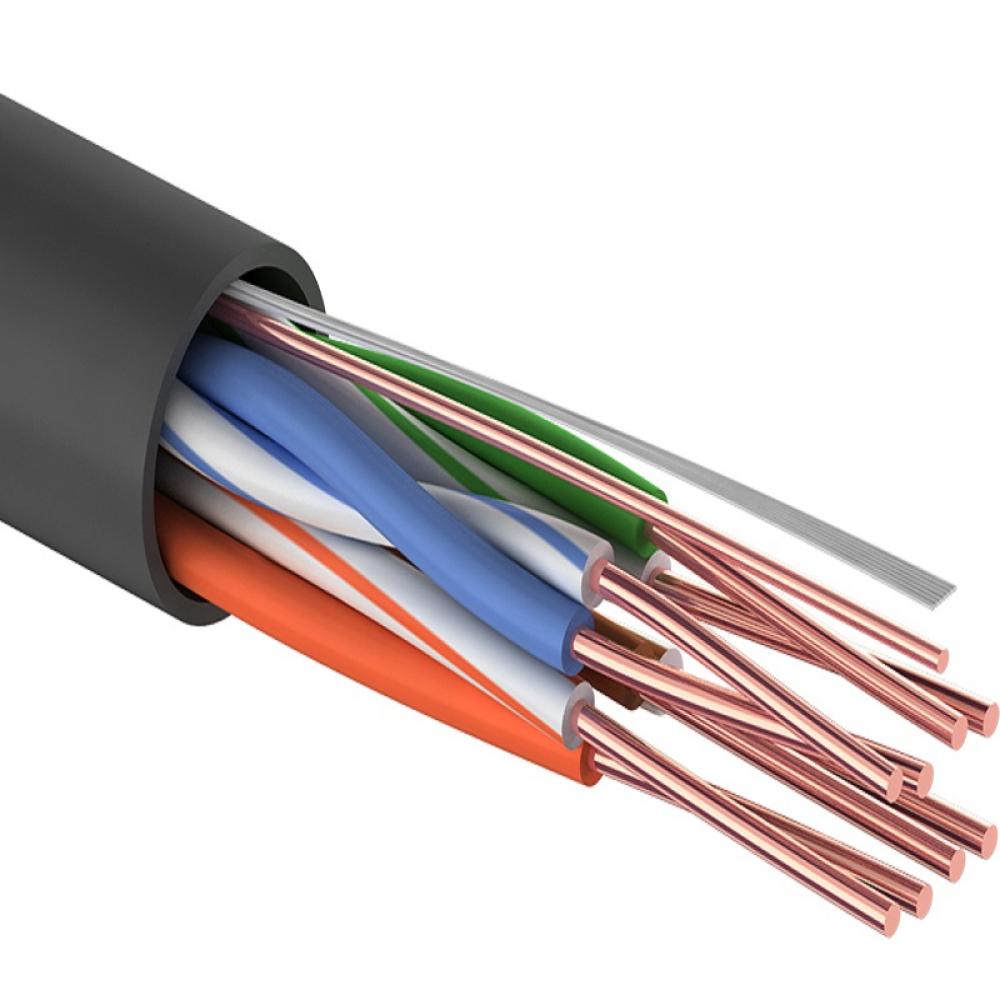 Купить Кабель proconnect витая пара utp 4pr 24awg, cca, cat5e, pe, бухта 305 м, черный outdoor 01-0045-3