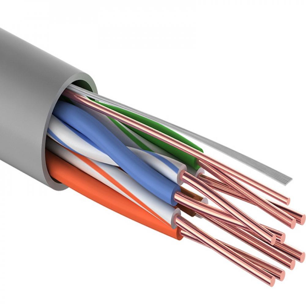 Купить Кабель proconnect витая пара light utp 4pr 24awg, cca, cat5e, pvc серый, бухта 305 м 01-0043-2
