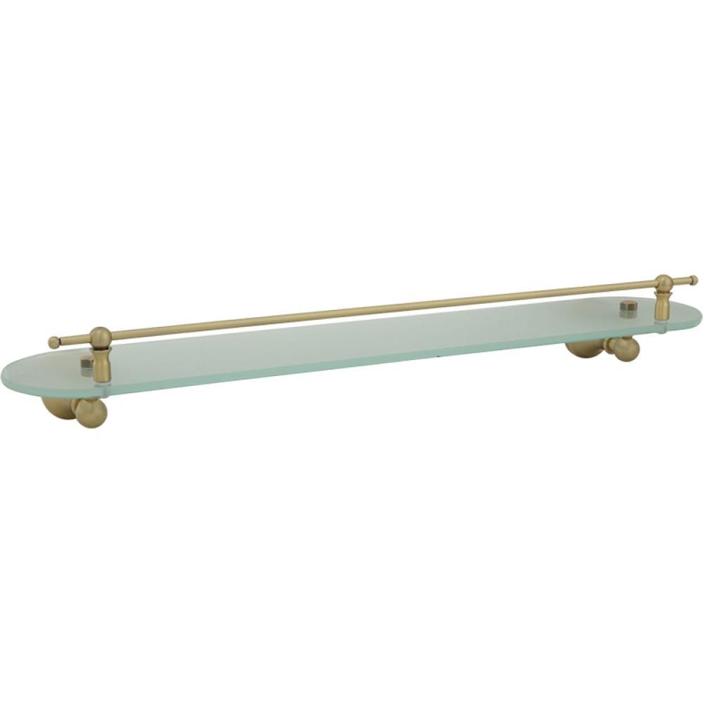 Купить Полка с галереей veragio gialetta l60 см, матовое стекло/бронза vr.gil-6411.br