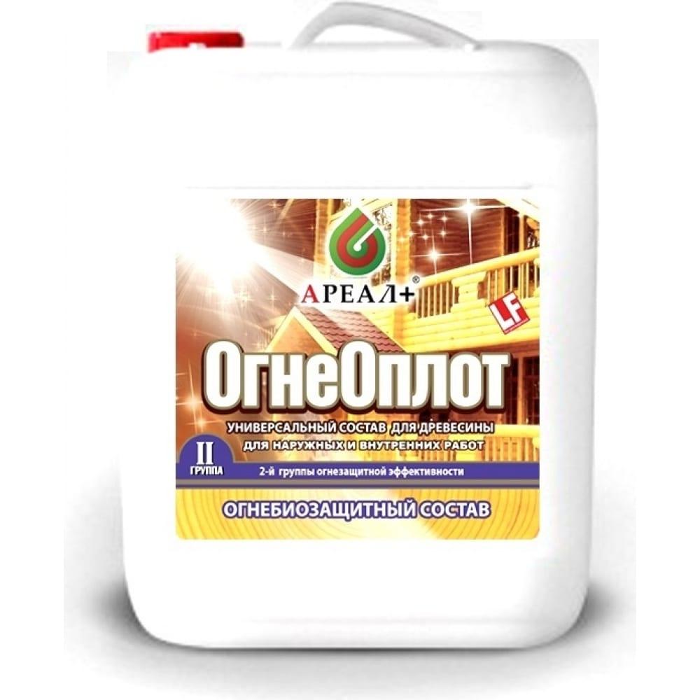 Купить Огнебиозащитный состав ареал+ огнеоплот2 прозрачный канистра 10 л а-460